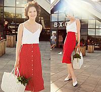 Красная юбка в горошек