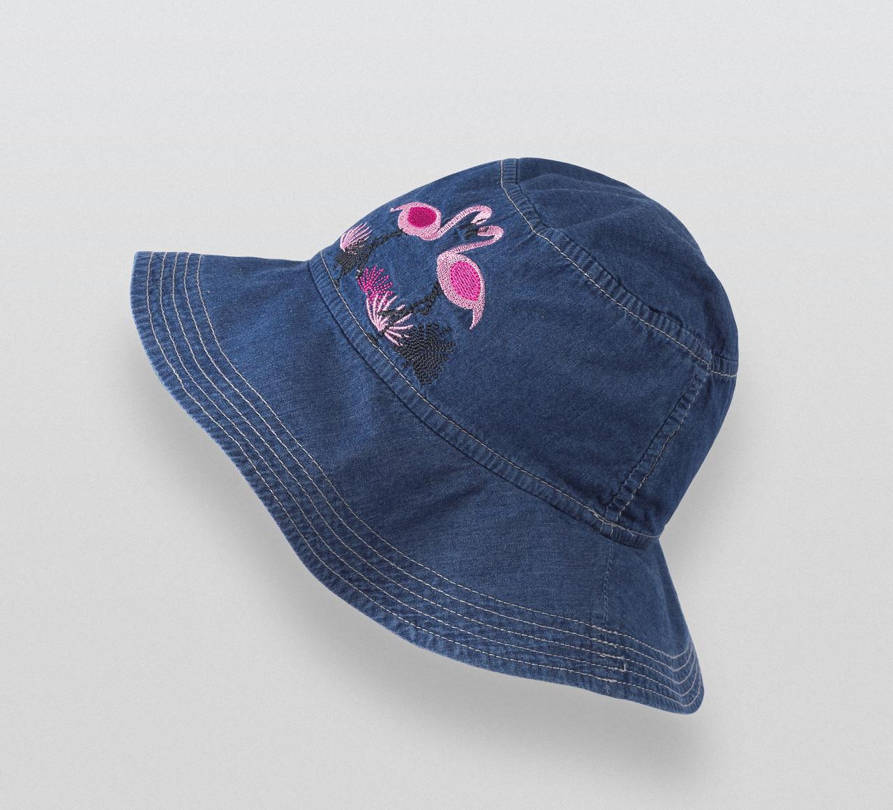 Джинсовая панама для девочки Бемби Фламинго (р.46/50, 50/52)