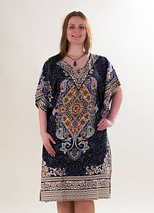 Туника летнее платье Жасмин, р-ры 54-62, опт 200 грн.
