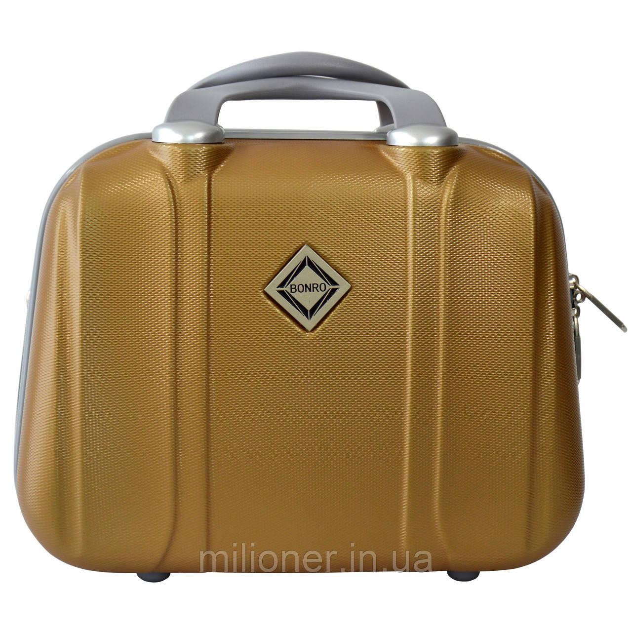 Сумка кейс саквояж Bonro Smile (большой) золотой (gold 6502)