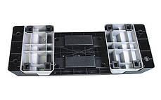Степ-платформа ZEL FI-4734 (пластик, покриття TPR, р-р 98Lx38Wx15H+5+5 см, чорний-сірий), фото 2
