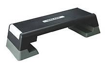 Степ-платформа ZEL FI-4734 (пластик, покриття TPR, р-р 98Lx38Wx15H+5+5 см, чорний-сірий), фото 3