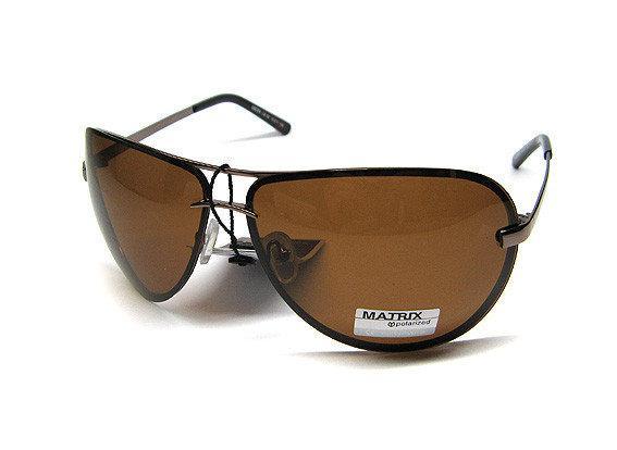 9ec53eb92285 Авиаторы Коричневые Очки от Солнца Matrix Polaroid — в Категории ...