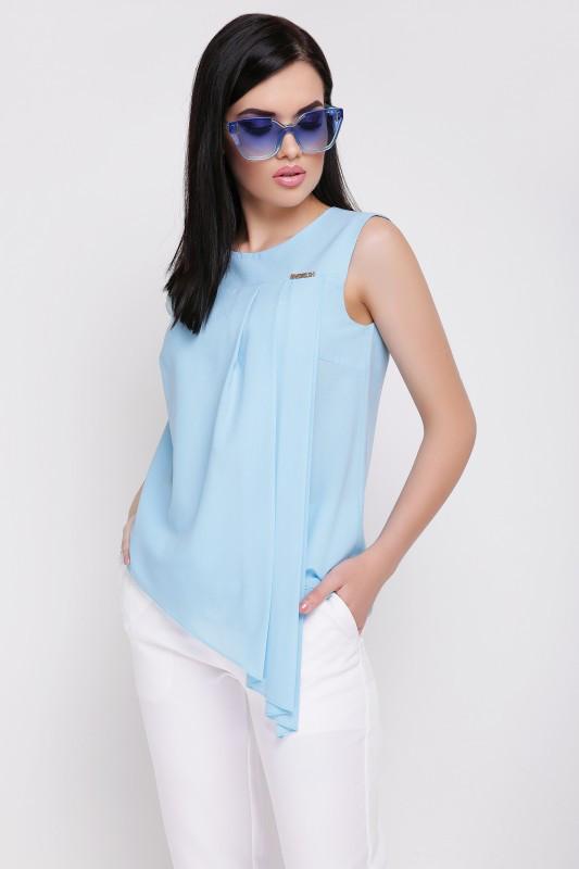 Оригинальная женская блуза из креп-шифона