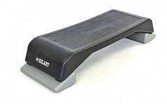 Степ-платформа FI-6293 (пластик, покриття TPR, р-н 89,5Lx35Wx15Hсм, чорний)