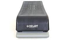 Степ-платформа FI-6293 (пластик, покрытие TPR, р-р 89,5Lx35Wx15Hсм, черный), фото 2