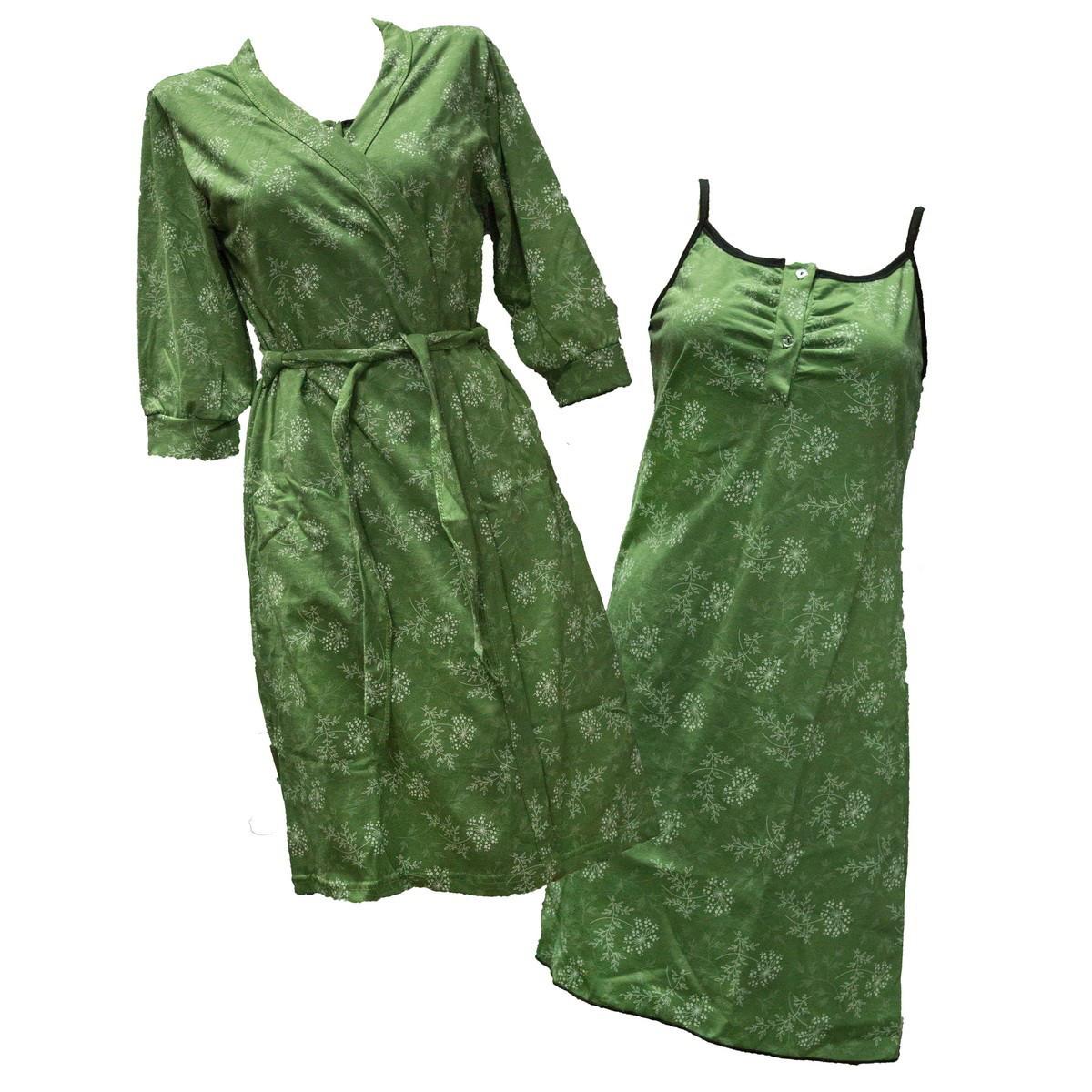 Комплект ночная рубашка + халат (кулир пинье)