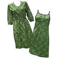 Комплект ночная рубашка + халат (кулир пинье), фото 1