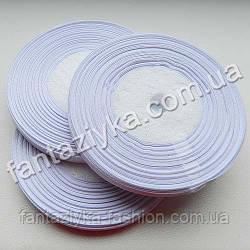 Репсовая лента тонкая 0,6 см, белая