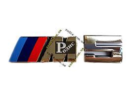 Надпись BMW 5 на двухстороннем скотче (l-135мм, b-33мм, s(толщина)-4мм)
