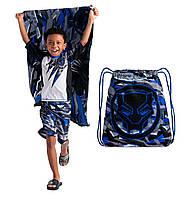 Полотенце с сумкой  Black Panther PremiumDisney 75*150см.