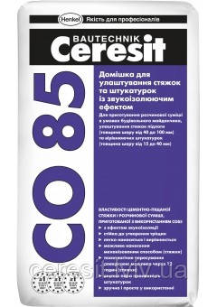 Добавка для стяжок із звукоізоляційним ефектом Сeresit CO85/25Kg