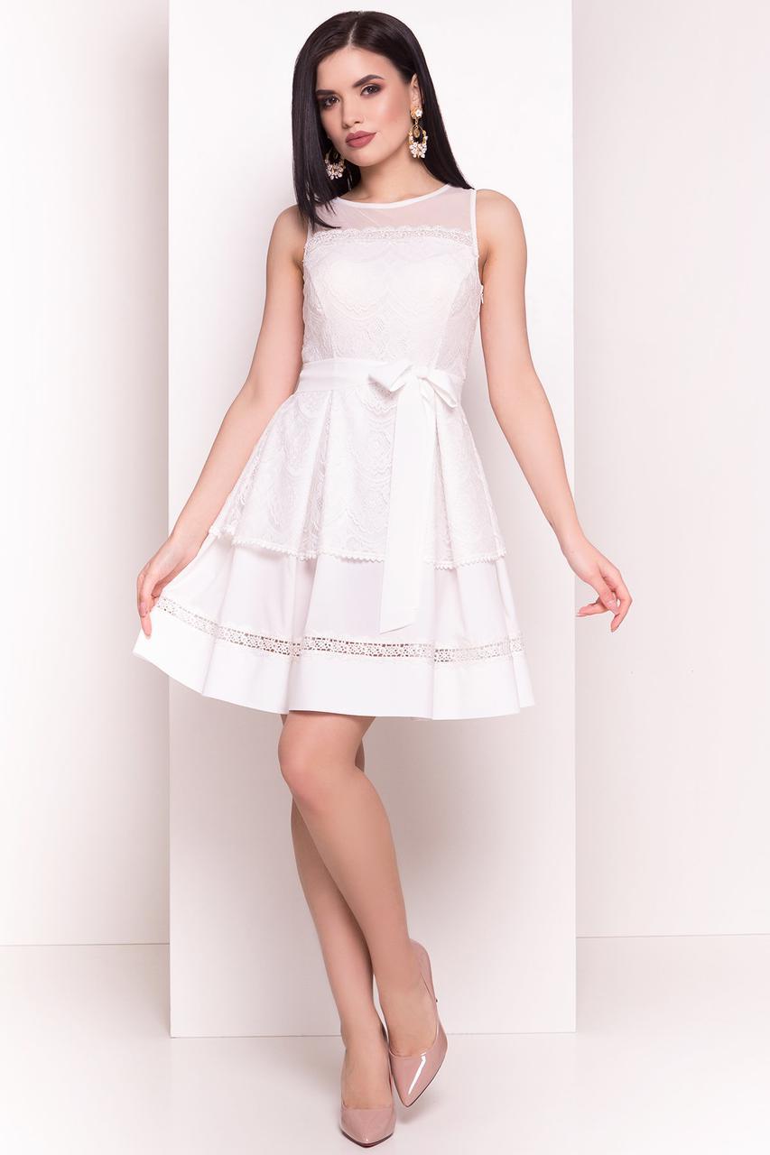aee0d3f4b33 Белое короткое платье с пышной юбкой - Интернет-магазин одежды и  аксессуаров   Ilisun