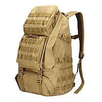 Рюкзак брезентовый мужской камуфляжный для акивного отдыха. Туристические рюкзаки. 35 л Койот
