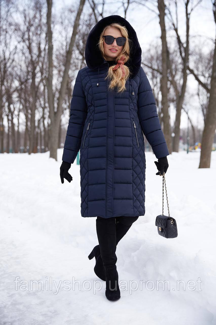 Теплое зимнее пальто на женщину Людмила Нью Вери (Nui Very)
