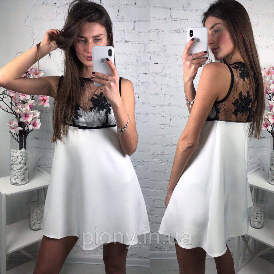 5596e9eb499 Женское летнее платье вставка итальянское кружево - Интернет-магазин