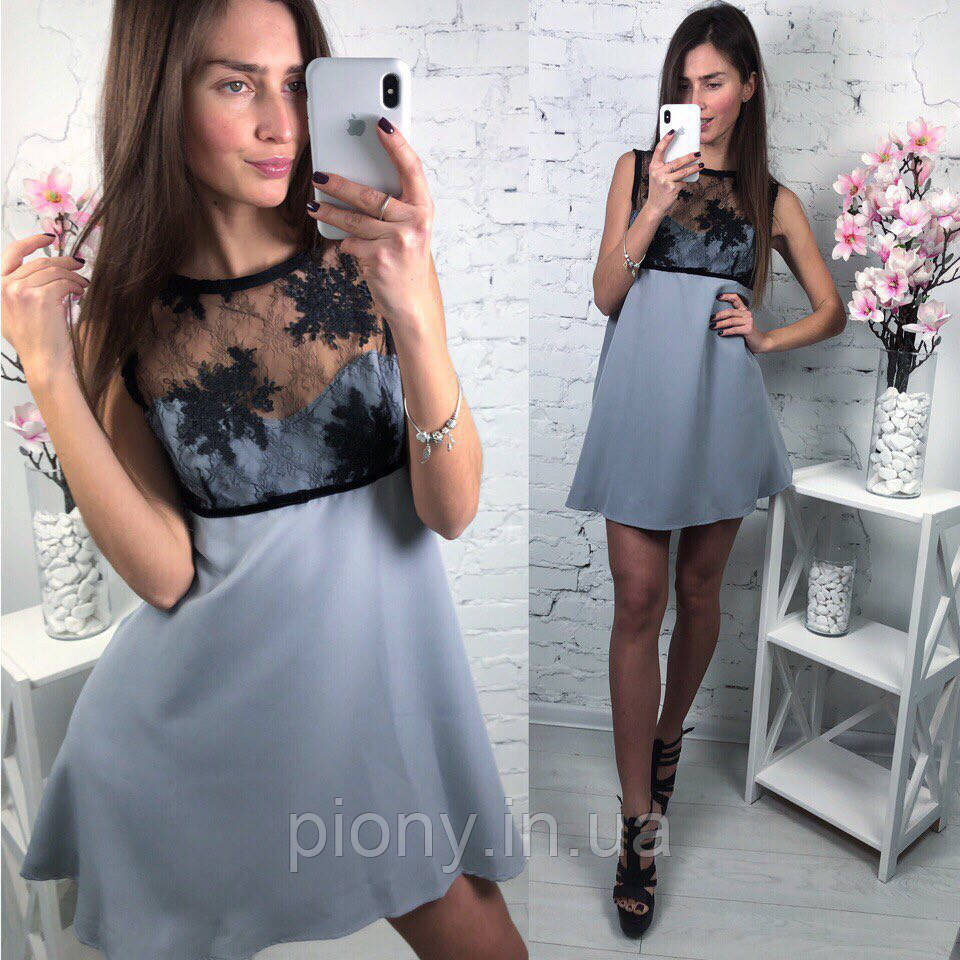 28024bedc56 Женское летнее платье вставка итальянское кружево  продажа
