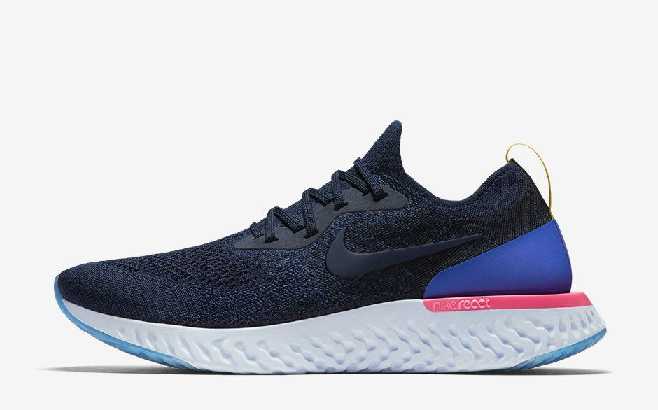 Кроссовки Nike Epic React Flyknit (Синие)