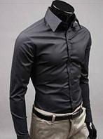 Классическая мужская рубашка slim-fit «Classic» (Чёрный)