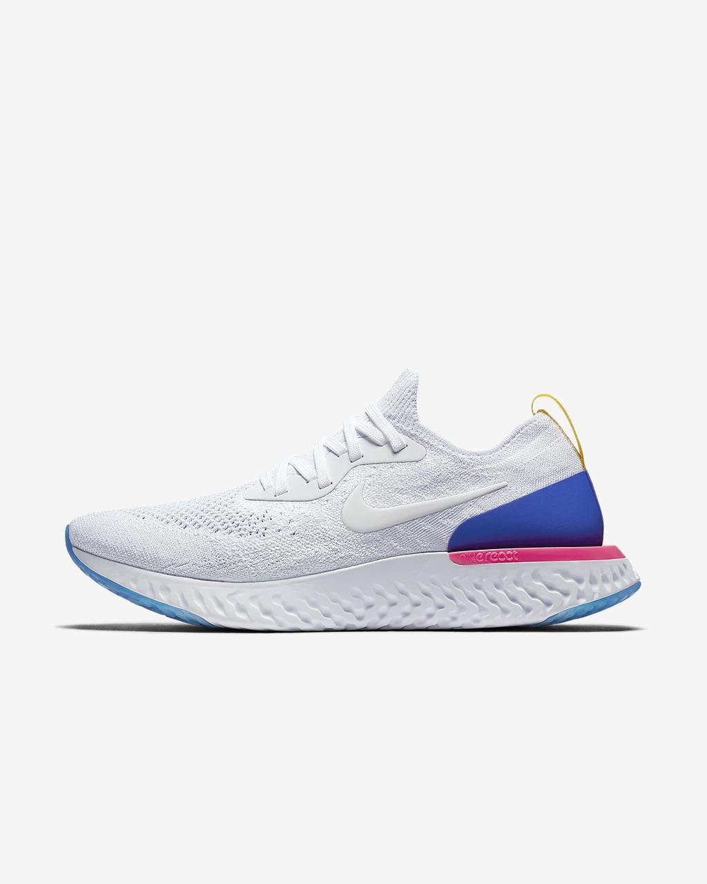 Кроссовки Nike Epic React Flyknit (Белые)