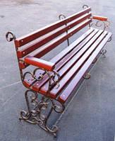 Кованая скамейка садовая
