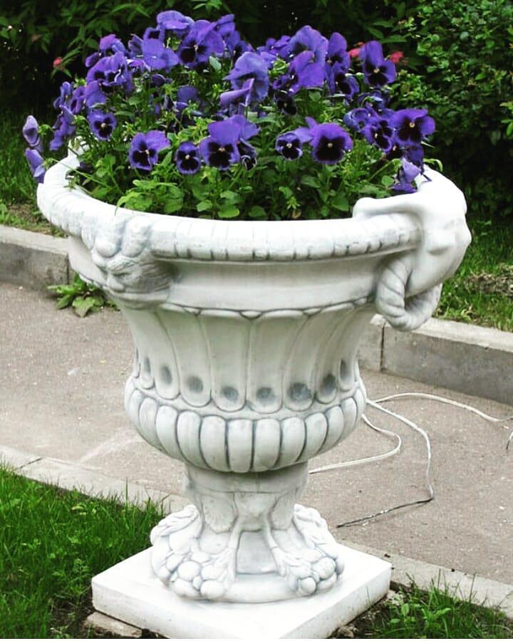Уличная ваза бетон бетон вибропрессование
