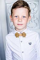Детский галстук-бабочка из дерева Майн Крафт