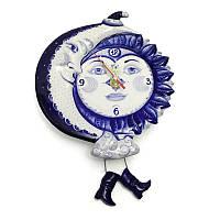 Часы настенные керамические День-ночь