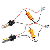 Автолампа LED ДХО с функцией поворота BAU15S 150 1156