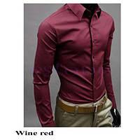 Классическая мужская рубашка slim fit «Classic» (красное вино) 5920807a1a87f