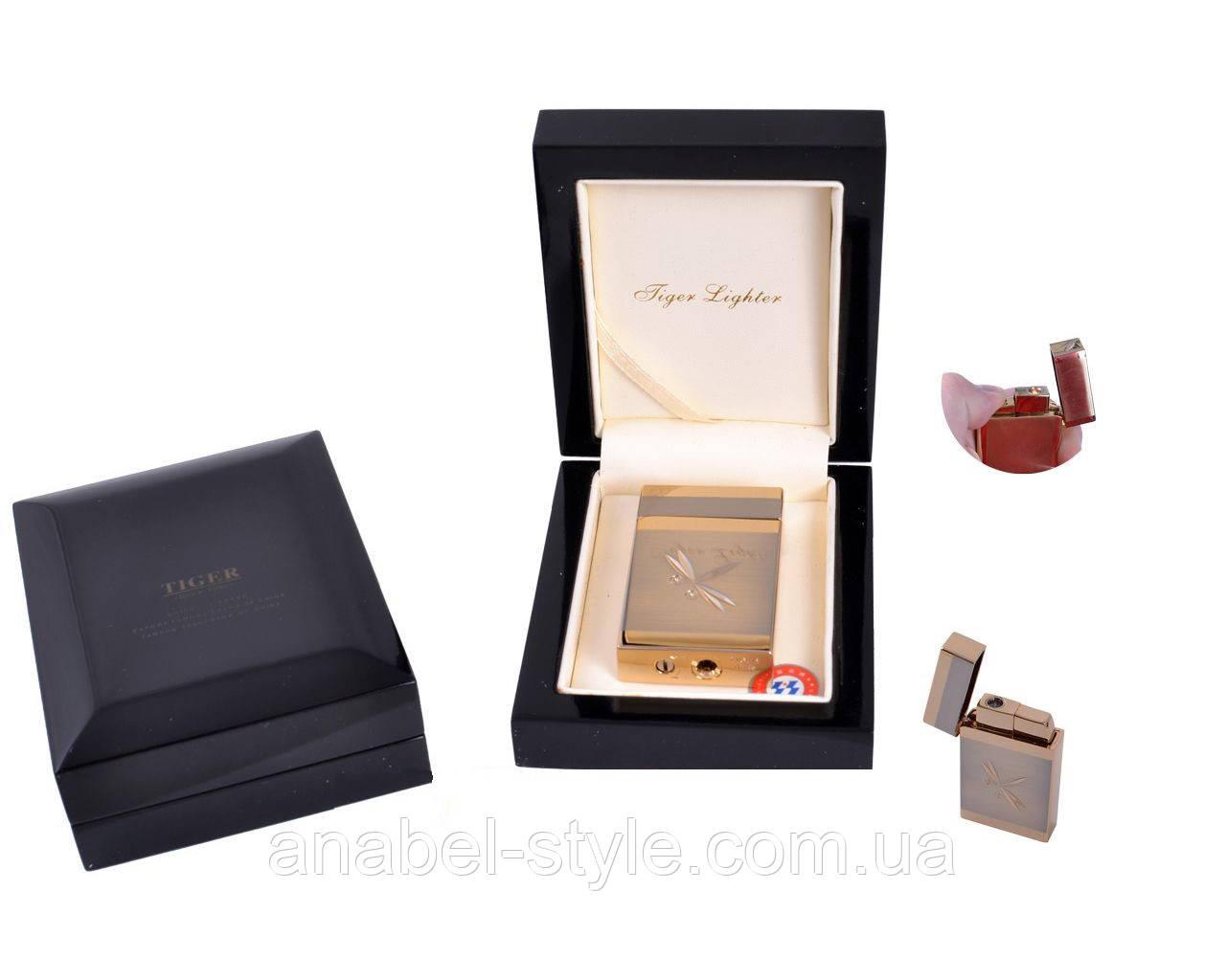 Зажигалка в подарочной упаковке Tiger (Турбо пламя) №3269-4 Код 119939