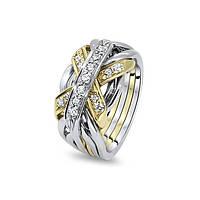 Золотой перстень с бриллиантами от Wickerring