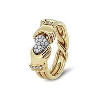 Золотое обручальное кольцо с бриллиантами от Wickerring