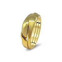 Мужское золотое обручальное кольцо головоломка от Wickerring
