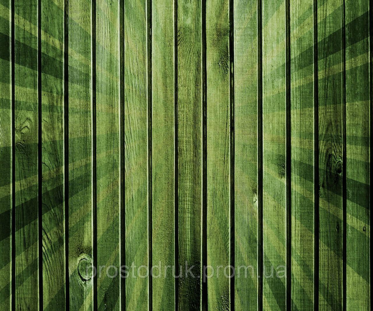 Дерев'яний фон зелений 120х100см, банер