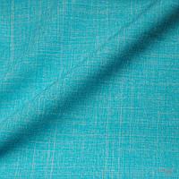 Отрез ткани рогожка плательная голубая для поделок и рукоделия
