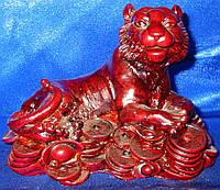 Фигурка Тигр каменная крошка коричневый