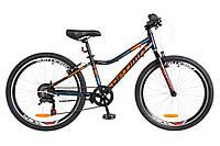 """Детский велосипед Optima Blackwood 24"""" черно-оранжевый"""