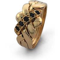 Золотое кольцо для мужчин с алмазами от WickerRing