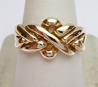 Золотое кольцо головоломка (унисекс) от WickerRing