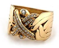 Золотое кольцо головоломка с Бриллиантами от WickerRing