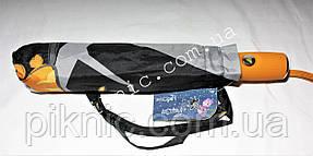 """Женский зонт складной полуавтомат """"Полевые цветы"""". Зонтик от дождя., фото 2"""