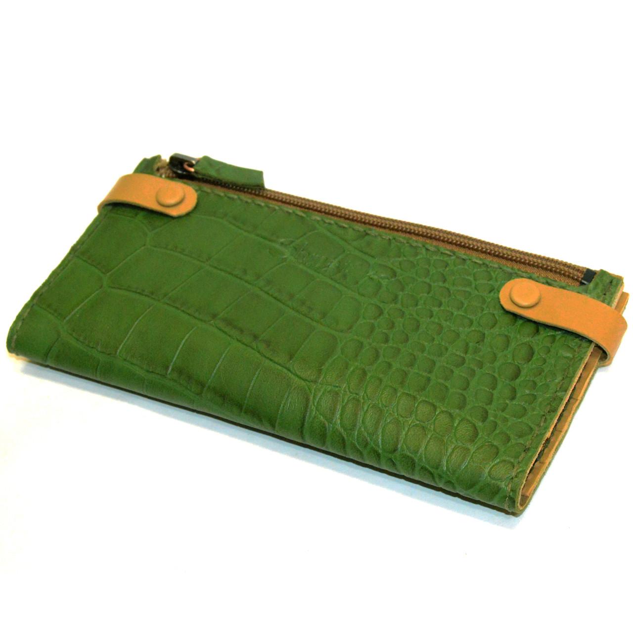 Кошелек кожаный женский Shmatko Зеленый (SH3323)