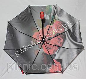 """Женский зонт складной автомат """"Розы"""". Зонтик от дождя., фото 2"""