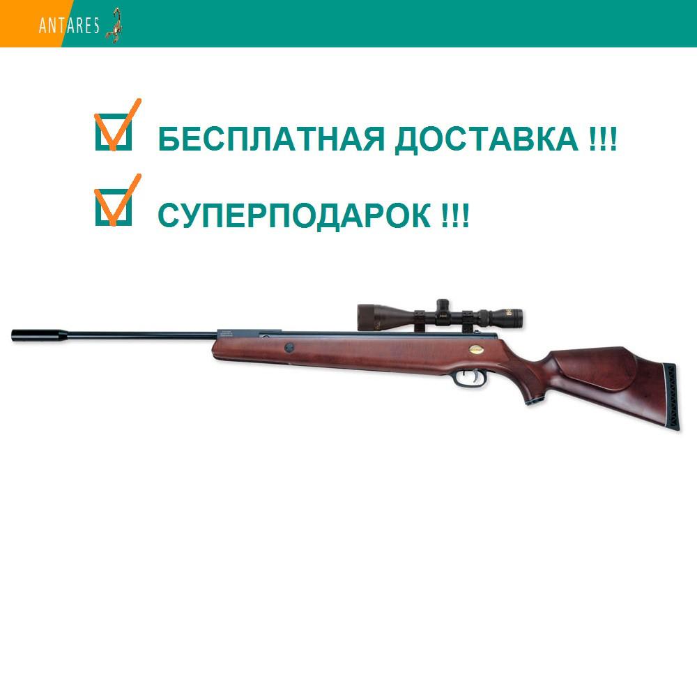 Пневматическая винтовка Beeman Mach 12.5 с оптическим прицелом 3-9х40 (12517) дерево перелом ствола 380 м/с