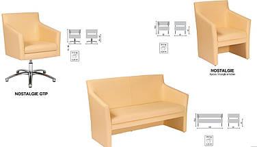 Кресло офисное Ностальжи (Nostalgie) GTP Хром, фото 3