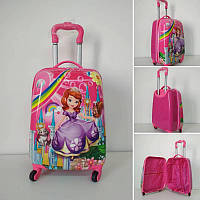 Чемодан для путешествий на колесах для девочки Принцесса София