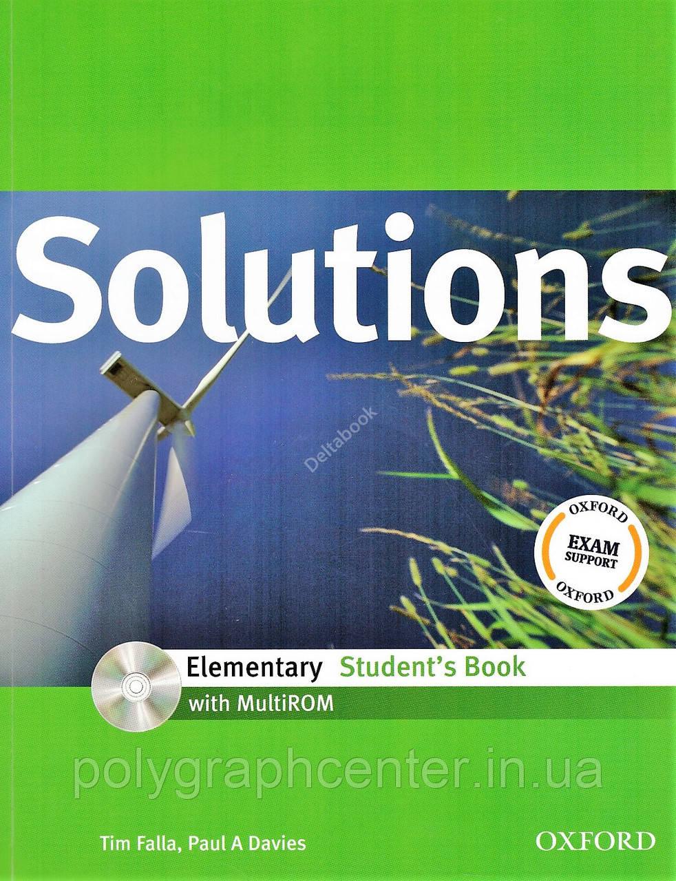 Solutions Elementary Комплект (Учебник + Тетрадь) Цветная Копия!