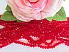 Бусины хрустальные 4х3 мм, рондель, 140-150 шт, цвет бордовый (прозрачный)