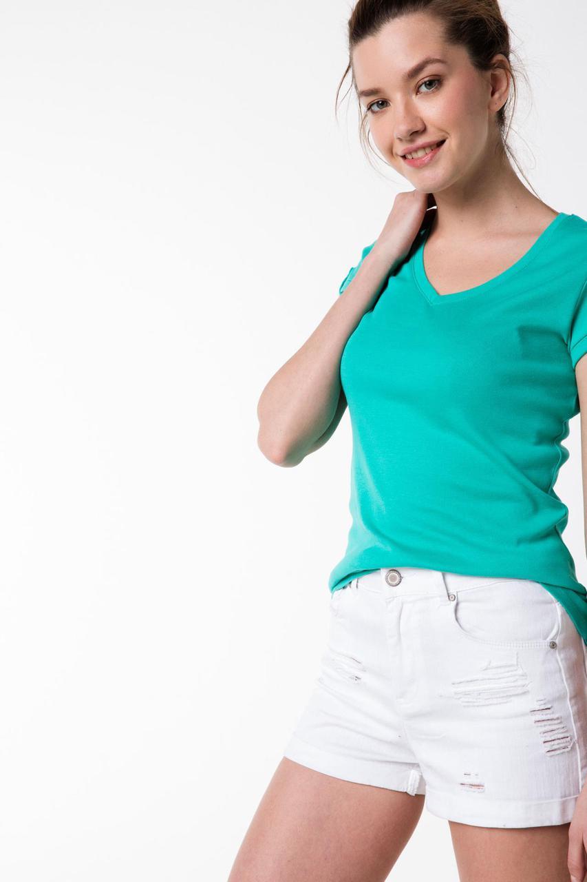 Бирюзовая женская футболка De Facto / Де Факто